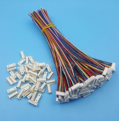 50Sets 8Pin SH 1.25mm Single End 15cm 28AWG Wire To Board Connectors