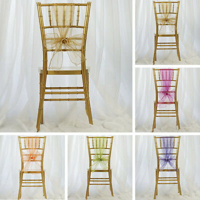 500 x Sheer Organza CHAIR SASHES Ties Bows WHOLESALE Wedding Party Decorations