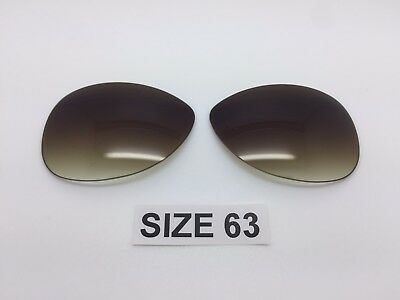 8ee8d156f287 Custom Rayban RB 3386 SIZE 63 Sunglass Replacement Lenses Brown Gradient  new!