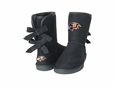NFL Baltimore Ravens Womens Patron Boots, 10, Black