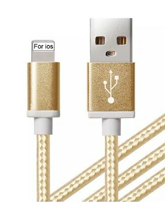5x 1.5M Strong USB Data Lead Adaptor Cable For iPhone 8,7,6,6+,5,5c,5s SE XR XS
