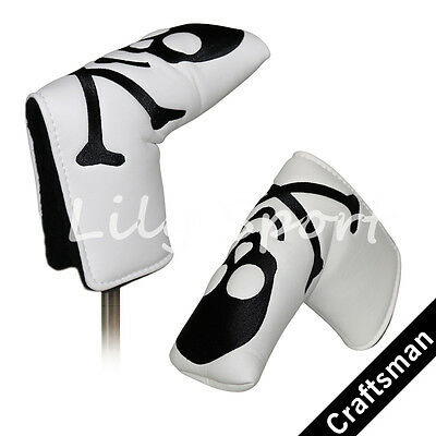 New White Blade Golf Putter Head Cover For Odyssey Taylormade Scotty Cameron USA