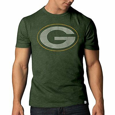 NFL Green Bay Packers Mens 47 Basic Scrum Tee, Bottle Green, Small