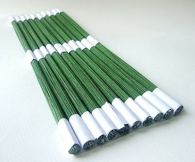 "Gauge 12"" Floral Wire Floral Stub Stem Craft Green Tape Wrapped 1 bundle 100"