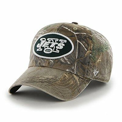NFL New York Jets 47 Brand Big Buck Clean Up Adjustable Hat Realtree Camouflage,