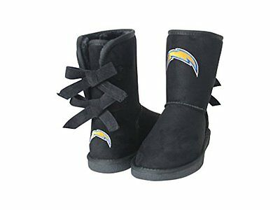 NFL San Diego Chargers Womens Patron Boots, 6, Black