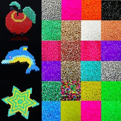 Free PP 5mm 1000pcs HAMA/PERLER BEADS for GREAT Kids Great Fun Child Gift