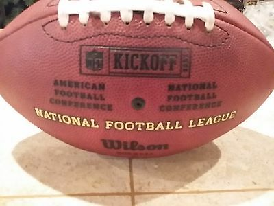 """2007 Official NFL Kickoff """"Duke """" ball issued to San Diego Chargers embossed"""