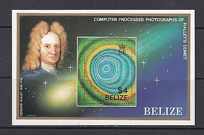 SPACE/COMET - Belize - 1986 sheet of 1- (SC 814)-MNH-B274
