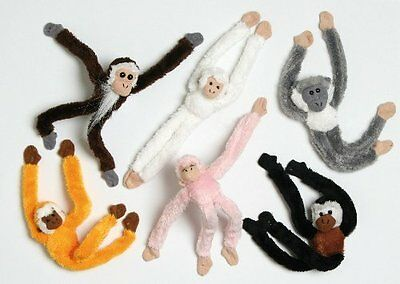 NEW 15cm Magnetic Monkey Soft Toy / Decoration - 1 Supplied At Random