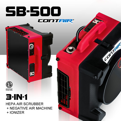 Contair® SB-500 HEPA Air Scrubber Negative Air Machine Filteration in RED