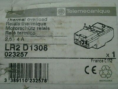 Telemecanique LR2 D1308 Thermal Overload Relay 2.5-4A