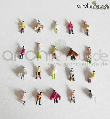 100 x Model Standing Seated Figures People Hand painted 1:200 Z Gauge