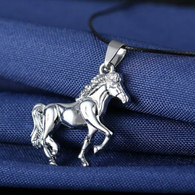 New Unisex's Men Silver Stainless Steel Horse Pendant Necklace Chain Hot Gifts