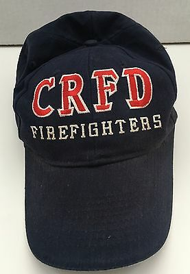 CRFD Chicago Ridge Firefighters American Flag Adjustable Cap Hat