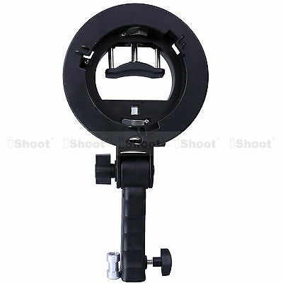 Handheld Speedlight Flash Bracket for Bowens Chuck Reflector Beauty Dish Snoot