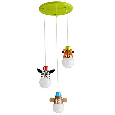 Children's Animals Zoo Themed Ceiling Light Ideal For Kids Bedroom & Playroom