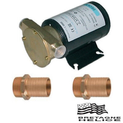 Pompe De Cale 12V Type Water Puppy 33L/min Corps En Bronze + 2 Raccords Ø 20 Mm