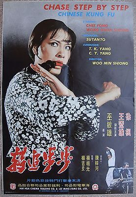 "Karate Original Movie Poster CHASE STEP BY STEP CHINESE KUNG FU Film 21x31"" 70s"