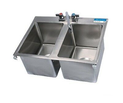 2 Compartment Drop In Sink BBK-DIS-1014-2-P-G
