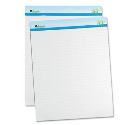 Sugarcane Based Easel Pads, 1 Inch Rule, 27 x 34, White, 2 50-Sheet Pads/Pack