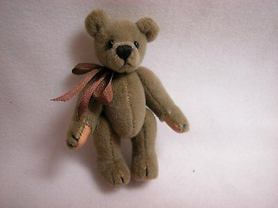 "World of Miniature Bears 2.5"" Plush American Patriot Pin Bear #315F Collectible"