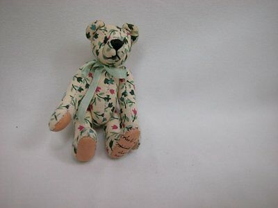 "World of Miniature Bears 3"" Cotton Fabric Pin Bear #490-2 Collectible Bear"