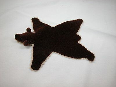 "World of Miniature Bear 5""x4"" Plush Rug Brown #669BR Collectible Miniature"