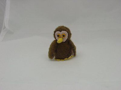"World of Miniature Bears 1.5"" Cotton Owl #5963B Collectible Miniature Owl"