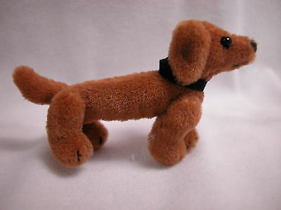 "World of Miniature Bears 2""x1.5"" Plush Dog Fritz Rust #5809R Collectible Dog"