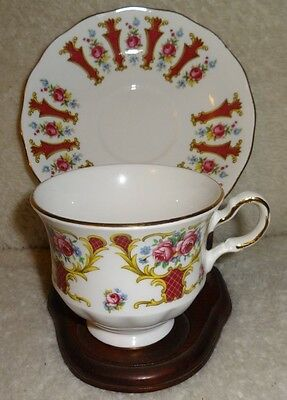 Vintage Tea Cup & Saucer ~ Queen Anne Pattern 8530 Bone China made in england