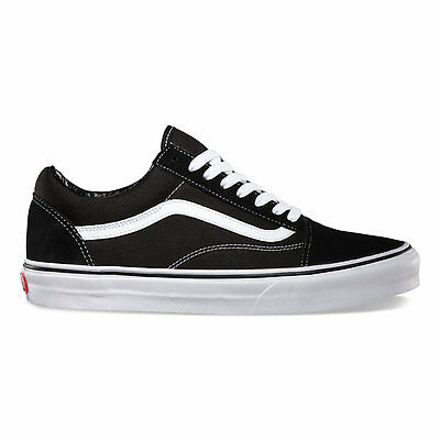 Vans Old Skool Black Skateboarding Shoes Classic Canvas/Suede Fast shipping