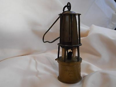 Vintage Minicher / Tiny Solid Brass Miners Lamp ?????