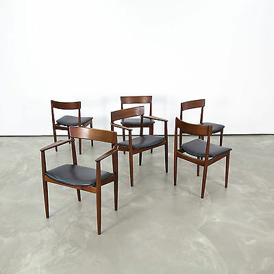 6 Chairs & Arm Chairs by Rosengren Hansen for Brande | Danish Modern Teak Stühle
