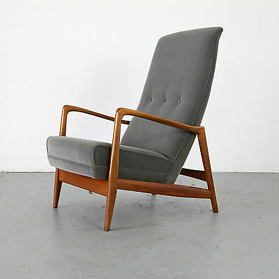 Mid Century Highback Lounge Chair by Gio Ponti - Cassina Italy 60s | Sessel 60er