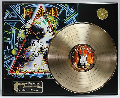 Def Leppard Gold Lp  Ltd Edition Reproduction Signature Record Display