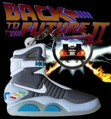 Back to the Future  sneakers glows in the dark Keyring 2D a brand new