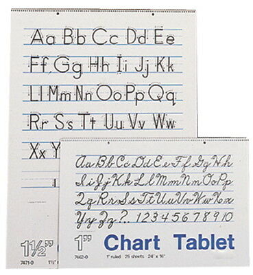 Pacon Chart Tablet, 1 Inch Ruled, 16 x 24 Inches, 30 Sheets