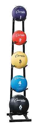 Champion Single Stack Medicine Ball Rack with 5-Ball Capacity, Black