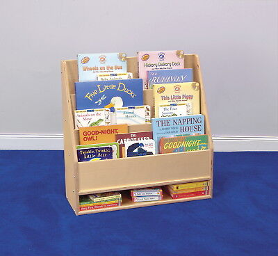 Childcraft Toddler 3 Shelf Book Display with Dry-Erase Panel, 24 W x 9 D x 24 H