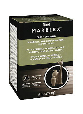 AMACO Marblex Ready-for-Use Self-Hardening Modeling Clay, 25 lb, Gray