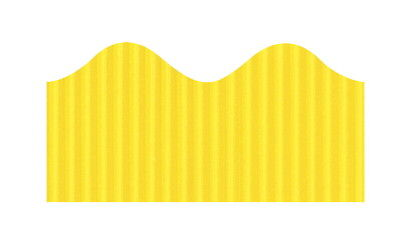 Bordette Pacon Scalloped Decorative Border, 2-1/4 in X 50 ft, Canary Yellow