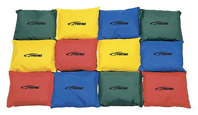 School Smart Nylon Square Beanbags, 4 Inches, Pack of 12