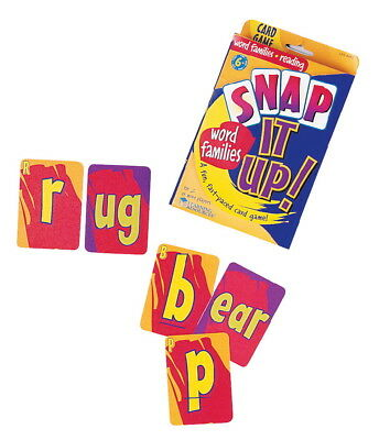 Learning Resources Snap It Up! Phonics and Reading Game, 90 Cards