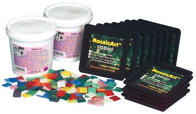 Sax Stained Glass Mosaic Tile Coaster Kit, Makes 12