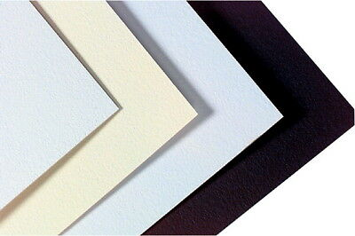 Crescent Acid-Free Mat Board, 32 X 40 in, 14-Ply Thickness, White/Cream Pebbled,