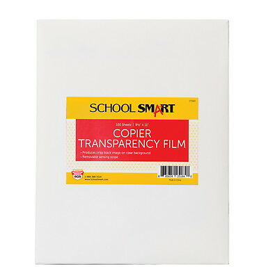 School Smart Copier Transparency Film, 8-1/2 x 11 Inches, Pack of 100