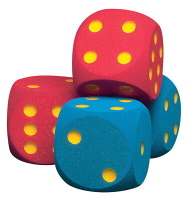 Volley 6-1/4 in Coated Foam Giant Dice, Set of 2, Red