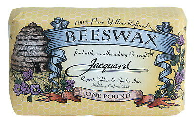 Jacquard Flexible Beeswax, Yellow, 1 lb Block