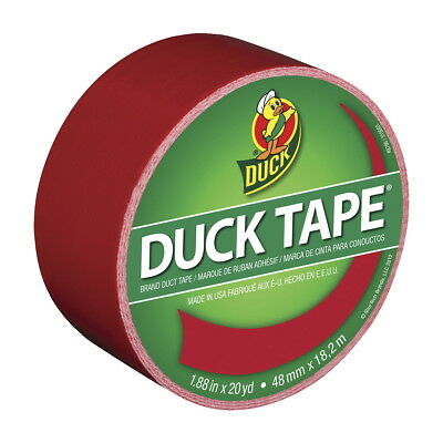 Duck Tape Colored Duct Tape, 1.88 in x 20 yd, Red